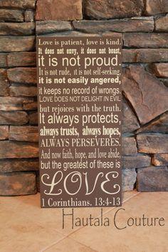 1 Corinthians 13:4-13