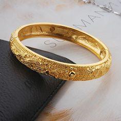 Real Gold Filled Dragon-Phoenix Bangle