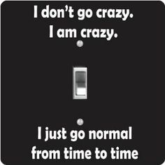 """Rikki KnightTM I Don't Go Crazy - Single Toggle Light Switch Cover by Rikki Knight. $13.99. 5""""x 5""""x 0.18"""". Washable. Glossy Finish. For use on Walls (screws not included). Masonite Hardboard Material. The I Don't Go Crazy single toggle light switch cover is made of commercial vibrant quality masonite Hardboard that is cut into 5"""" Square with 1'8"""" thick material. The Beautiful Art Photo Reproduction is printed directly into the switch plate and not decoupaged which make these Li..."""