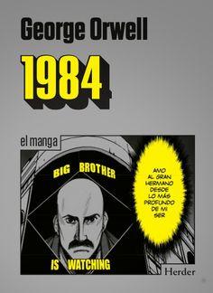 1984 es, junto con Un mundo feliz, de Aldous Huxley, y Fahrenheit 451, de Ray Bradbury, uno de los grandes clásicos de la literatura distópica, así como uno de los libros más influyentes del siglo XX. La obra describe un porvenir totalitario, donde el omnipresente Gran Hermano, que todo lo vigila, contraol el presente, el pasado y el futuro, donde la mentira se convierte en la verdad. Más información: http://www.hablandoenmanga.com/articulo/resena-de-1984/