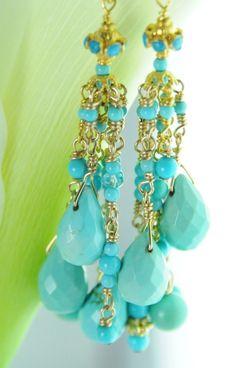 Fine Jewelry/ Turquoise Jewelry/Sleeping by LillyputLaneDesignCo