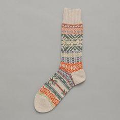 vall fair isle sock ++ chup