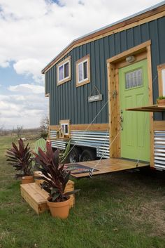 This is Raw Design Creative's Homestead Tiny House on Wheels — with two folding decks! This build includes one of the most interesting bed/living/loft situations I've seen. On the…