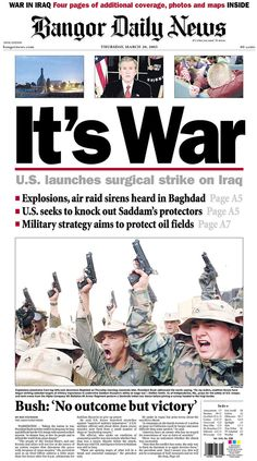 Sobering and depressing how the media's roll in the lead up too and during the Iraq war, was disgusting!
