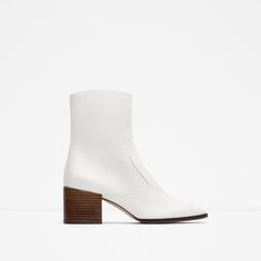 ZARA - COLLECTION SS16 - BLOCK HEEL LEATHER ANKLE BOOTS