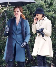 Lana Parrilla and Rebecca Mader on set - February 28, 2017.