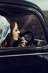 And last but not least: Ride away in style.   14 Ways To Bring Vintage Glamour To Your Wedding