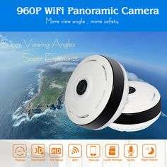 HD FishEye IP camera 960P 360 degree Full View Mini CCTV Camera 1.3MP Network Home Security WiFi Camera Panoramic IR Hiseeu