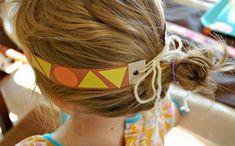 Native American Pattern Headbands-- Thanksgiving Craft for Kids