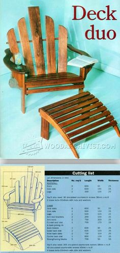 Deck Chair Plans - Outdoor Furniture Plans and Projects   WoodArchivist.com