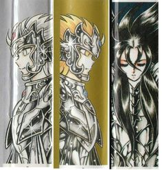 Saint Seiya, jump comics, Thanatos, Hypnos, Hades