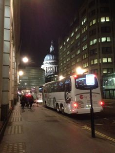 Recorded The High lonesome Mass tonight in downtown London. This was the view afterward as we headed to the bus!  St. Paul's Cathedral....stunning!