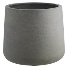 The contemporary Crete grey planter has a streamlined shape with a gently rounded base and provides the perfect background for sculptural plants. Made from lightweight yet durable fibreglass, the large, frost-proof planter is available in various sizes. Garden Furniture Design, Garden Design, Garden Planters, Planter Pots, Garden Clearance, Clearance Outdoor Furniture, Garden Table And Chairs, Dining Chairs, Contemporary Garden