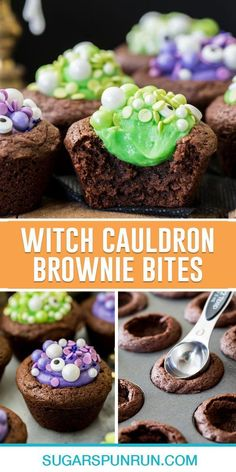 These Halloween brownie bites are a cute, spooky treat for your next Halloween party! Made completely from scratch with homemade brownies and a simple cream frosting! Easy Baking For Kids, Baking Recipes For Kids, Dessert Recipes For Kids, Fall Baking, Holiday Baking, Cupcake Recipes, Brownie Frosting, Brownie Desserts, Cream Frosting