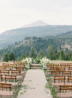 Yellowstone club wedding ceremony: Photography: O'Malley Photographers - omalleyphotographers.com   Read More on SMP: http://www.stylemepretty.com/2017/05/23/yellowstone-club-wedding/