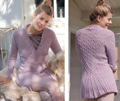 Cardigan with a combination of embossed patterns - knitting scheme. Knit Cardigans on Verena.ru