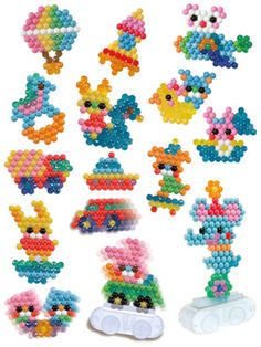 Beados and Aquabeads Melty Bead Patterns, Beading Patterns, Peler Beads, Fusion Beads, Beaded Animals, Beads And Wire, Loom Beading, Bead Art, Hama Beads