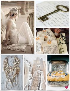 Downton Abbey Wedding Ideas | Main Photo dress by Claire Pettibone | Heart Love Weddings