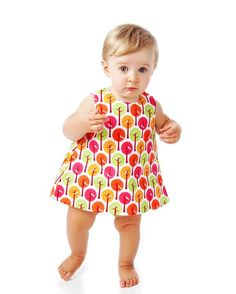 Baby Pinafore Dress Pattern with Open Back, Easy Sewing Pattern PDF, Reversible - LoveItSoMuch.com