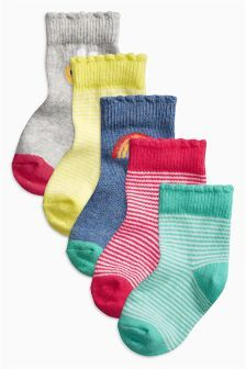 Next Bright Socks Five Pack (Younger Girls) £5