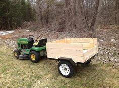 """5 Star [Review] Friday from Backwoods13 in Upstate, NY on their new Ironton Trailer Kit: """"Nice quality kit, went together well. Took me a about 1 1/2 hrs. without putting the light kit on (only using it on my property). Built a box on it out of rough cut hemlock from local saw mill. Works great for cleaning up the yard, and taking back on trails to get firewood. I pull it with just my garden tractor."""""""