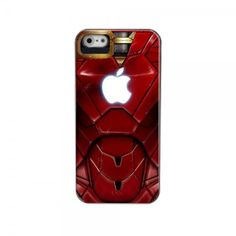 Awesome Red Iron Man With Apple Logo Iphone 5 Case  $14