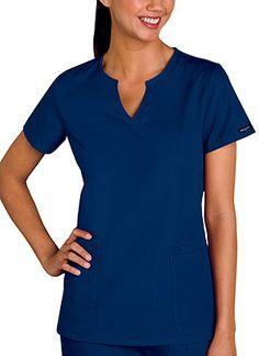 Baby Phat Mock Wrap Top in Navy Mock Wrap Top  Fabric: Brushed Cotton/Poly Poplin $22.99 #scrubs #nurses #doctors #medicaloutlet #babyphat