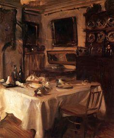 """My dining Room""  John Singer Sargent"