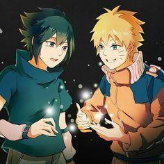 Sasuke and naruto ,they are best friend goals Sasunaru, Narusaku, Shikamaru, Naruto And Sasuke, Naruto Art, Naruto Uzumaki, Anime Naruto, Kakashi, Boruto 2