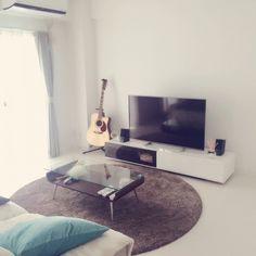 ホワイトインテリア/リビングテーブル/部屋全体/サボテン寄せ植え/テレビ台…などのインテリア実例 - 2015-06-15 13:13:49 | RoomClip(ルームクリップ)