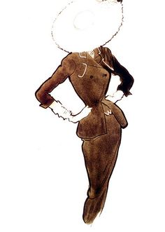 Fashion illustration by René Gruau