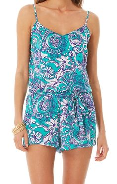 7740a239b06 Lilly Pulitzer Deanna Tank Top Romper in Montauk Cute Rompers