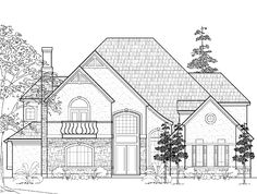 Eplans French Country House Plan - Four Bedroom French Country - 4718 Square Feet and 4 Bedrooms(s) from Eplans - House Plan Code HWEPL60780