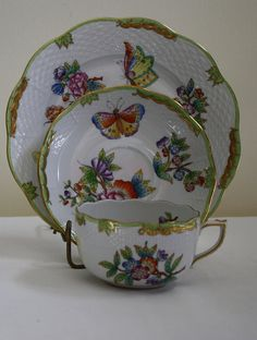 Herend Hungary Fine China Tea Set