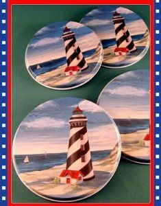 Lighthouse Kitchen Decor | ... Nautical Lighthouse Light House Stove Burner  Covers: Home
