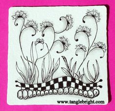 Zentangle Patterns for Beginners | By the way, it was soooooo tempting to not add a pop of color on the ...