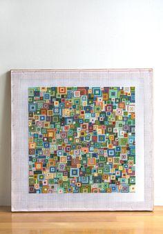 PDF needlepoint pattern / shikaku green mix by CresusArtisanat, $8.75