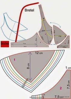 Lingerie Patterns, Sewing Lingerie, Dress Sewing Patterns, Sewing Blogs, Sewing Basics, Sewing Tutorials, Bralette Pattern, Bra Pattern, Diy Bra