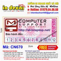 In tem bảo hành tại Bình Phước với giá 50đ, thiết kế miễn phí