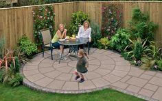 Small Backyard Patio Designs   garden patio ideas – patios garden paving essex design installation ...