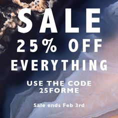 SVP Sale - off absolutely everything - SVP Jewellery Sale ends Feb February 3rd, Mini Sales, Absolutely Everything, Jewellery Sale, Things To Think About, Let It Be, Make It Yourself