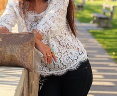 beautiful lace Joie top