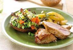 Recept voor Kalfsfilet met gevulde portobello's | Solo Open Kitchen