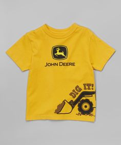Loving this John Deere Yellow 'Dig It' Tee - Toddler on #zulily! #zulilyfinds