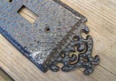 Black hammered metal light switch cover by SandrasCornerStore, $7.00