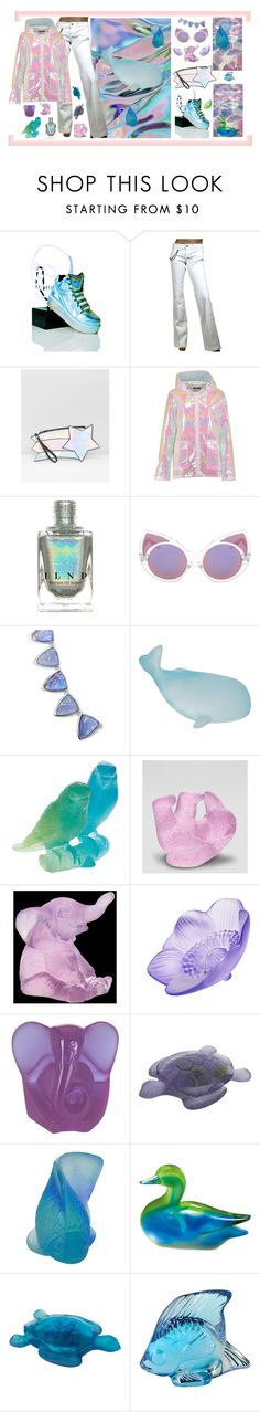 """""""Holographic"""" by oliveraelisa ❤ liked on Polyvore featuring Y.R.U., Gucci, Daisy Street, Boohoo, Forever 21, Daum, Lalique and Fitz & Floyd"""