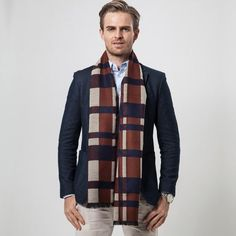 Newest Cashmere Plaid Scarf Man Winter Brand Scarf Men Fashion Designer Shawl Bussiness Casual Scarves - Best price in Scarves For Cancer Patients, Business Casual Men, Designer Scarves, Cashmere Scarf, Casual Fall, Womens Scarves, Plaid Scarf, Fashion Design, Men Fashion