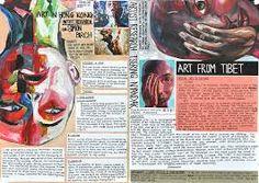 artist research pages Sketchbook Layout, Textiles Sketchbook, Gcse Art Sketchbook, Sketchbook Inspiration, Sketchbook Ideas, Roy Lichtenstein, Art Journal Pages, Art Pages, Art Journals