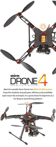 STORM Drone 4 GPS Flying Platform (RTF / NAZA V2) http://www.helipal.com/storm-drone-4-gps-flying-platform-rtf-naza-v2.html