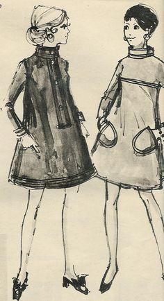 Danish fashion illustration 1967 by Annette Bering Liisberg